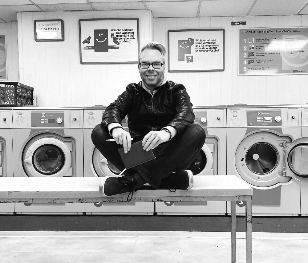 Marcus Mötz schreibt auch im Waschsalon